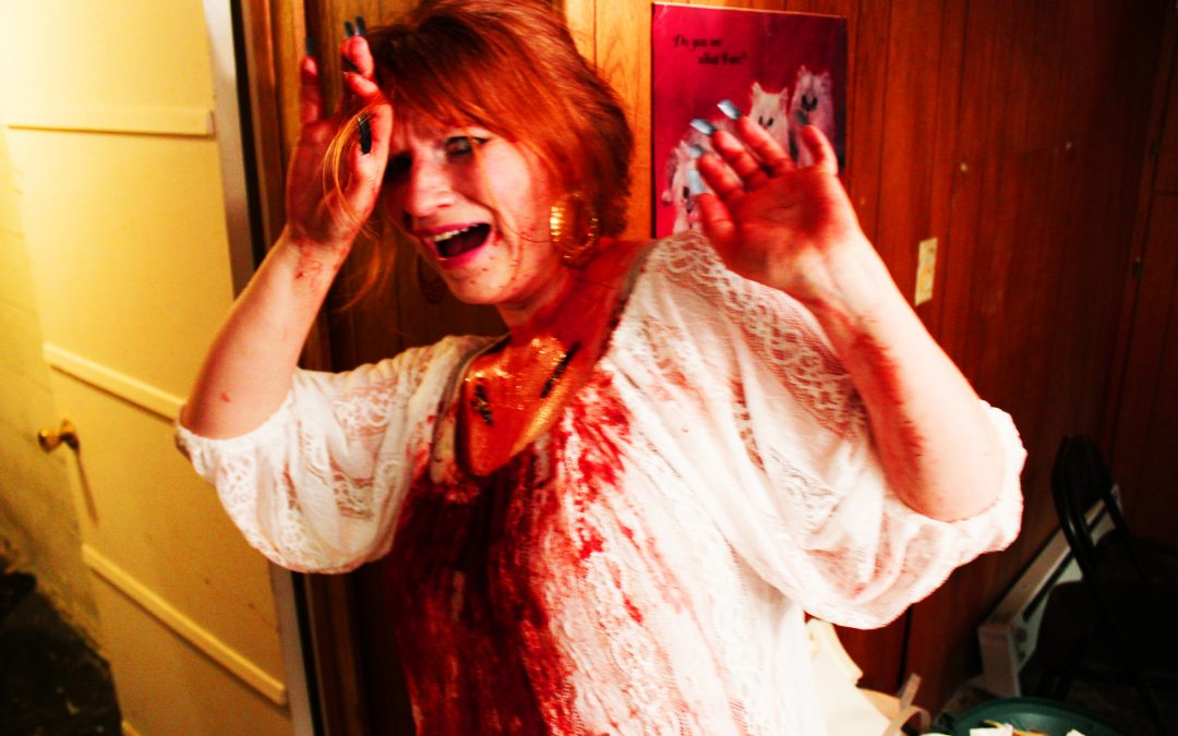 Exclusive photos, plus release info, art and trailer: Are horror-fave actresses SAFE INSIDE?
